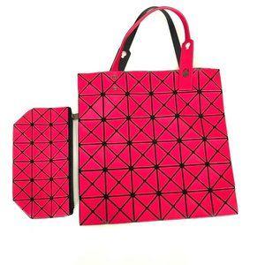 Bao Bao Issey Miyake Pink Lucent Tote Shoulder Bag